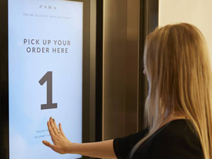 Cleveron e Intelligent Delivery en Zara Stratford (London)